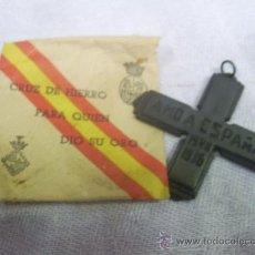Militaria: GUERRA CIVIL. CRUZ DE HIERRO AMO A ESPAÑA, PARA QUIEN DIO SU ORO. MALLORCA. 1936.. Lote 107609382
