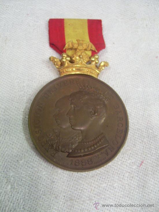 MEDALLA DE ORO, EXPOSICIÓN UNIVERSAL DE BARCELONA. 1888. (Militar - Medallas Españolas Originales )