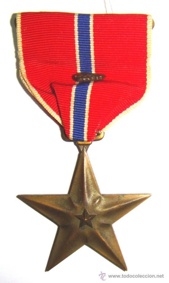 ESTRELLA DE BRONCE USA. 2ª GUERRA MUNDIAL. (Militar - Medallas Extranjeras Originales)