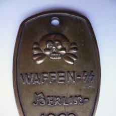 Militaria: PLACA DE IDENTIFICACION WAFFEN SS III REICH. Lote 28929907
