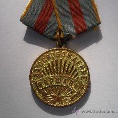 Militaria: URSS- MEDALLA CAPTURA DE VARSOVIA, ORIGINAL CON SU PASADOR DE COBRE DE ORIGEN (2 GUERRA MUNDIAL). Lote 29205961