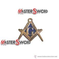 Militaria: PIN BROCHE MASONICO ESMALTADO MASONERIA FRANCMASONERIA. 2 CMS. Lote 86111116