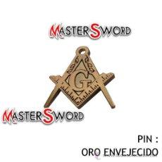 Militaria: PIN BROCHE MASONICO ORO VIEJO MASONERIA FRANCMASONERIA. 2 CMS. Lote 29419595