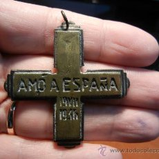 Militaria: ESPAÑA. CRUZ PROPAGANDÍSTICA. GUERRA CIVIL. AMO A ESPAÑA. 1936.. Lote 29613923
