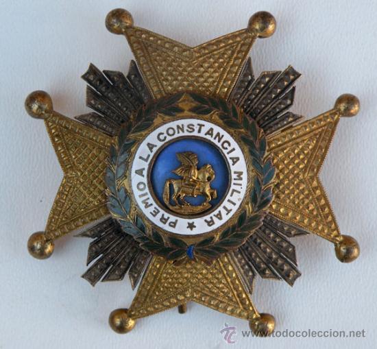 ANTIGUA MEDALLA ORIGINAL - PREMIO A LA CONSTANCIA MILITAR - ORDEN DE SAN HERMENEGILDO - EN BUEN ESTA (Militar - Medallas Españolas Originales )