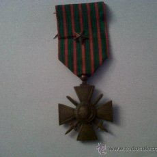 Militaria: MEDALLA FRANCESA-CRUZ DE GUERRA-MEDALLE FRANÇAISE-CROIX DE GUERRE-1914-1918. Lote 29990728