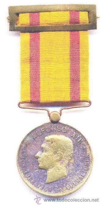 ESPAÑA CA 1880 - MEDALLA DE ALFONSO XII (Militar - Medallas Españolas Originales )