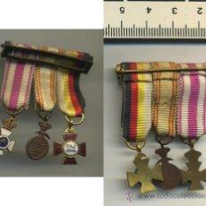 Militaria: - 3 MEDALLAS ORDEN SAN HERMENEGILDO PAZ DE MARRUECOS 25 AÑOS DE PAZ MEDALLA. Lote 31299478