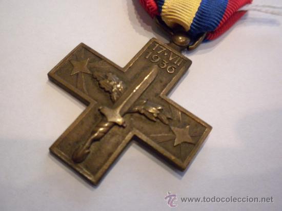 CRUZ DE GUERRA, ITALIA, GUERRA CIVIL, (Militar - Medallas Españolas Originales )