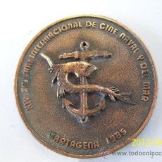 Militaria: CARTAGENA.MURCIA.MEDALLA CONMEMORATIVA XIV SEMANA INTER.DE CINE NAVAL Y DEL MAR.1985. Lote 31616599