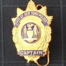 Militaria: PLACA POLICIA NEW YORK CITY NUEVA YORK NYPD CAPITAN NEW YORK POLICE DEPARTMENT AAA. Lote 31720271