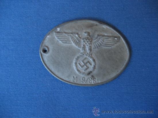MEDALLA CHAPA IDENTIFICACIÓN GESTAPO GEHEIME STAASPOLIZEI III REICH WW2 ORIGINAL 100%100 (NUMERADA) (Militar - Medallas Extranjeras Originales)