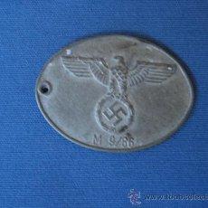 Militaria: MEDALLA CHAPA IDENTIFICACIÓN GESTAPO GEHEIME STAASPOLIZEI III REICH WW2 ORIGINAL 100%100 (NUMERADA). Lote 31750649