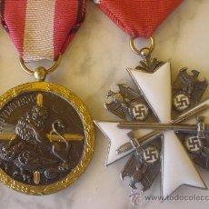 Militaria: PASADOR CON CUATRO MEDALLAS DE ALTA CALIDAD. Lote 31907338