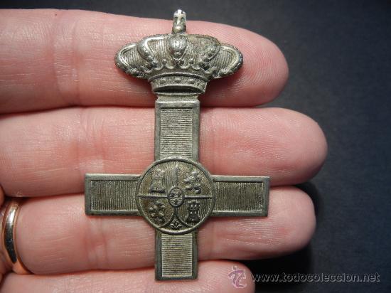 CRUZ DEL MÉRITO MILITAR. ÉPOCA DE ALFONSO XIII. (Militar - Medallas Españolas Originales )