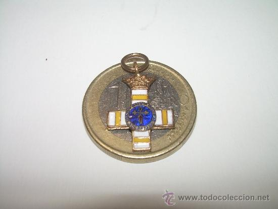 ANTIGUA MEDALLA ESMALTADA CONSTANCIA MILITAR SUBOFICIAL..(MINUSCULO TAMAÑO..VER FOTOS). (Militar - Medallas Españolas Originales )
