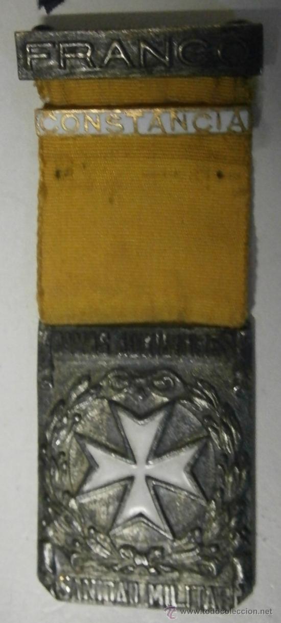 DAMAS AUXILIARES DE SANIDAD MILITAR, CON PASADOR CONSTANCIA (Militar - Medallas Españolas Originales )