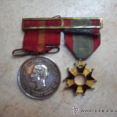 Militaria: MEDALLA DE LAS CAMPAÑAS DE ALFONSO XII CONTRA LOS CARLISTAS Y CRUZ.. Lote 32626900