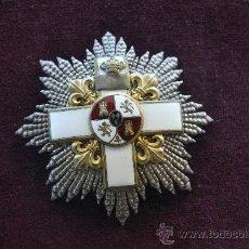 Militaria: PLACA MERITO MILITAR DISTINTIVO BLANCO, EPOCA ALFONSO XII. Lote 32975575
