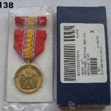 Militaria: U.S.A. - E.E.U.U. : MEDALLA DE SERVICIO EN LA DEFENSA NACIONAL. ENVÍO CERTIFICADO GRATUITO.. Lote 33484371