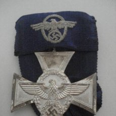 Militaria: DISTINCIÓN DE 18 AÑOS AL SERVICIO EN LA POLICÍA (ALEMANIA) TERCER REICH EBC CON DOCUMENTO. Lote 33837528