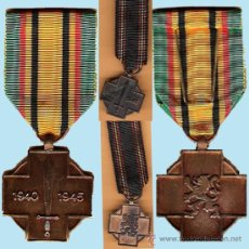 Militaria: BELGICA.- MEDALLAS BRONCE POR LOS LUCHADORES II GUERRA MUNDIAL.GRANDE Y MINIATURA.. Lote 34072229