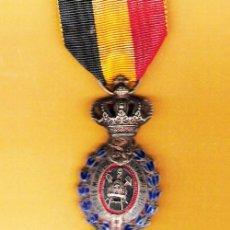 Militaria: BELGICA.- BRUSELAS PLATA DEL MERITO AL TRABAJO - II GUERRA MUNDIAL. REV. LISO.. Lote 34096584