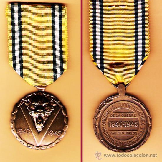 BELGICA.- MEDALLA DE LA VICTORIA - II GUERRA MUNDIAL 1940 - 1945. LUJO (Militar - Medallas Internacionales Originales)