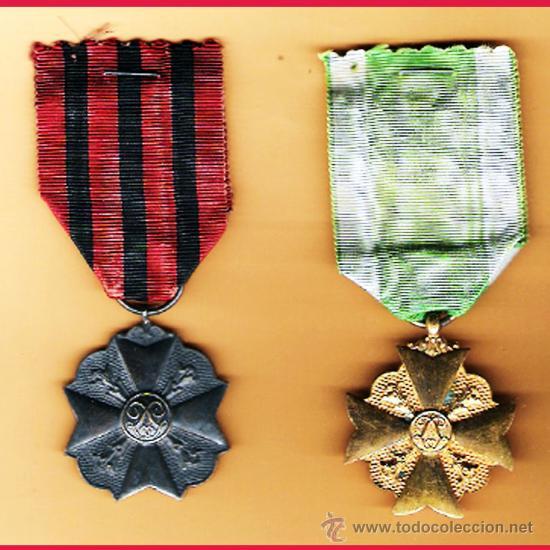 BELGICA.- PAR DE MEDALLAS CIVICAS, CATEGORIA PLATA Y CATEGORIA ORO,CON SUS CINTAS. (Militar - Medallas Extranjeras Originales)