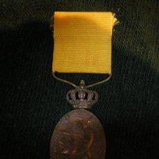 Militaria: MEDALLA DE MARRUECOS CON CORONA MOVIL CATEGORIA BRONCE. Lote 34251594