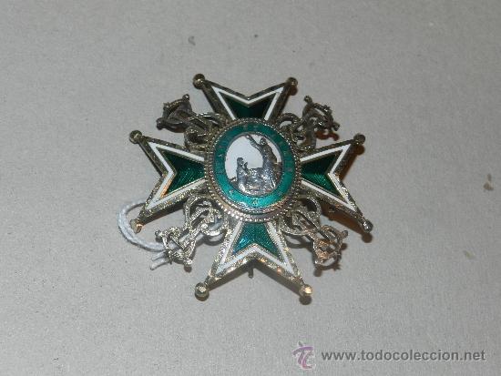 MEDALLA DE PECHO - ORDEN DE SAN LAZARO ( PLATA Y ESMALTE ) 7 X 7 CM, (Militar - Medallas Españolas Originales )