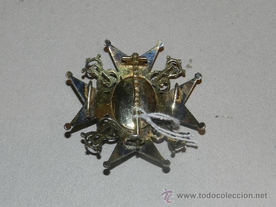 Militaria: MEDALLA DE PECHO - ORDEN DE SAN LAZARO ( PLATA Y ESMALTE ) 7 X 7 CM, - Foto 2 - 34442246