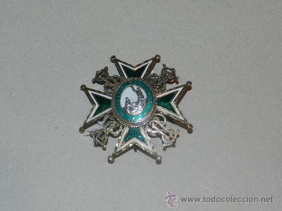 Militaria: MEDALLA DE PECHO - ORDEN DE SAN LAZARO ( PLATA Y ESMALTE ) 7 X 7 CM, - Foto 4 - 34442246