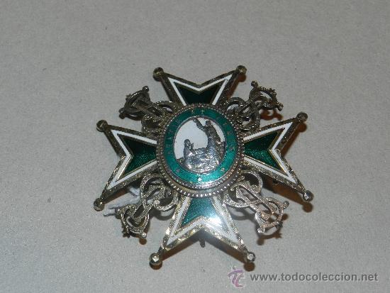 Militaria: MEDALLA DE PECHO - ORDEN DE SAN LAZARO ( PLATA Y ESMALTE ) 7 X 7 CM, - Foto 5 - 34442246