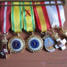 Militaria: PASADOR CON SEIS MINIATURAS ,REGIMEN ANTERIOR. Lote 34861805