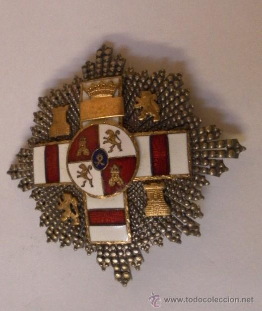 PLACA EXTRAORDINARIA. AL MÉRITO MILITAR DISTINTIVO BLANCO. PENSIONADA. ÉPOCA DE FRANCO (Militar - Medallas Españolas Originales )