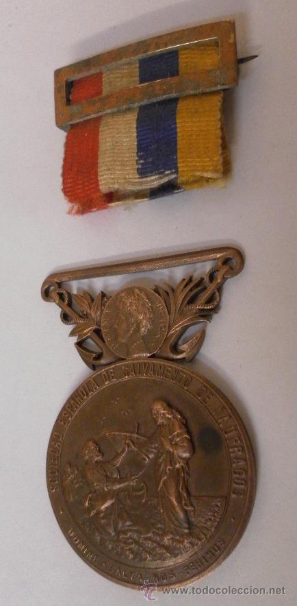 Militaria: Medalla sociedad Española de Salvamentos de Náufragos - Foto 2 - 34948735