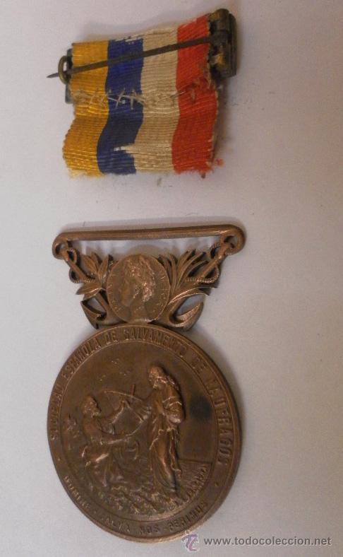 Militaria: Medalla sociedad Española de Salvamentos de Náufragos - Foto 4 - 34948735