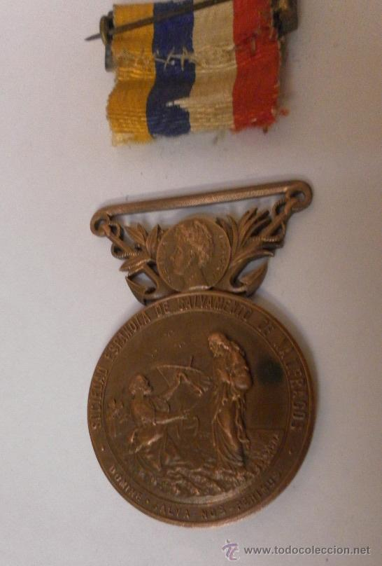 Militaria: Medalla sociedad Española de Salvamentos de Náufragos - Foto 3 - 34948735