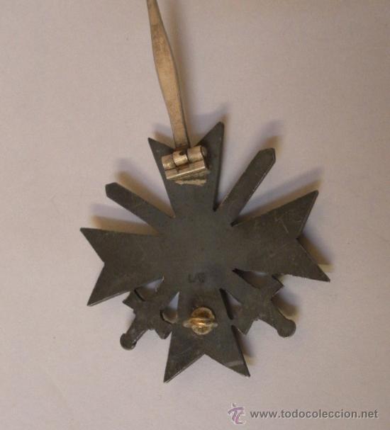 Militaria: Alemania. II Guerra Mundial. Cruz del Mérito Militar con Espadas. 1º Clase. Marcada L/13. - Foto 8 - 34949907
