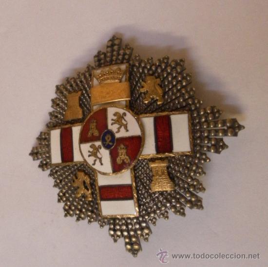 Militaria: Placa Extraordinaria. al Mérito Militar distintivo Blanco. Pensionada. Época de Franco - Foto 2 - 34949993