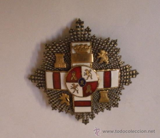 Militaria: Placa Extraordinaria. al Mérito Militar distintivo Blanco. Pensionada. Época de Franco - Foto 3 - 34949993