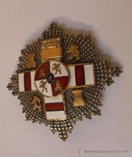 Militaria: Placa Extraordinaria. al Mérito Militar distintivo Blanco. Pensionada. Época de Franco - Foto 6 - 34949993