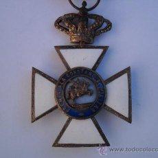 Militaria: CRUZ DE LA ORDEN DE SAN HERMENEGILDO-MOD.MITAD SIGLO XX EN METAL,PASADOR Y CINT.ORIGINALES.. Lote 34971446