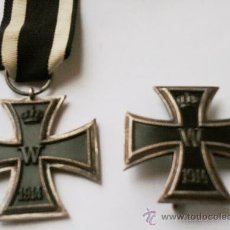 Militaria: I GUERRA MUNDIAL, CRUZ DE HIERRO DE 1ª CLASE EN PLATA Y CRUZ DE HIERRO DE 2ª CLASE,PRE III REICH. Lote 35212428