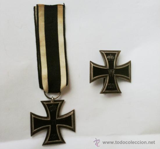 Militaria: I GUERRA MUNDIAL, CRUZ DE HIERRO DE 1ª CLASE EN PLATA Y CRUZ DE HIERRO DE 2ª CLASE,PRE III REICH - Foto 2 - 35212428