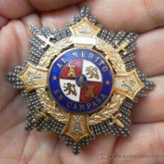Militaria: PLACA CRUZ DE GUERRA. MUY BUENA CALIDAD. . Lote 35345901