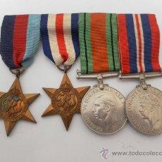 Militaria: CONJUNTO DE CUATRO CONDECORACIONES INGLESAS. II GUERRA MUNDIAL.. Lote 35346984