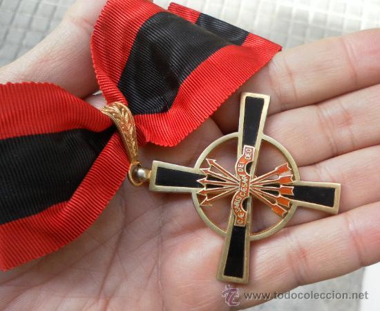 Militaria: Encomienda de la Orden del Yugo y las flechas. Época de Franco. - Foto 3 - 35346618