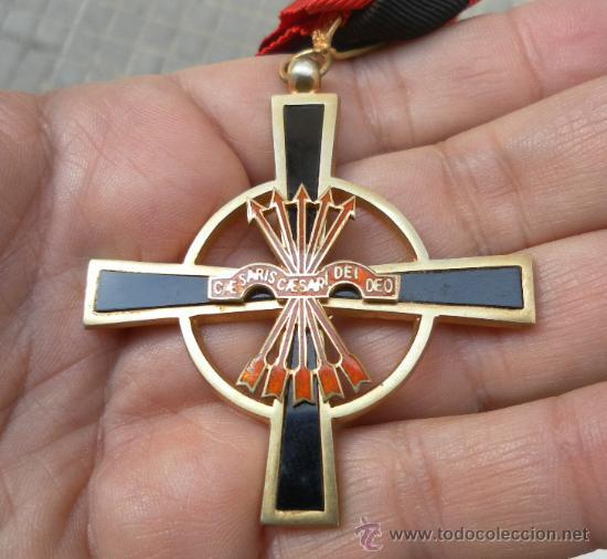 Militaria: Encomienda de la Orden del Yugo y las flechas. Época de Franco. - Foto 5 - 35346618